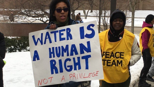 water protester